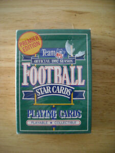 Team NFL Official 1992 Season Football Star Cards Playing Cards