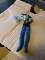 bender for copper, steel plier type (blue)