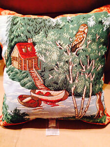 Cabin Scene Accent Pillow