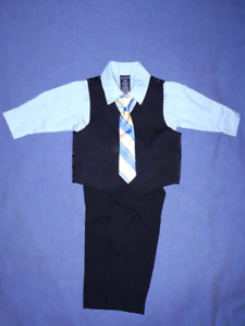 Nautica Baby Boy 4pc Holiday Christmas Dress Suit Size 12mts EUC