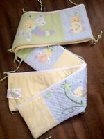 Barely Used Crib Bumper and Blanket Set.