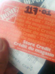 Home depot store credit