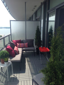 couch sofa set for balcony / patio, sectional, pillows included