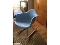 Blue retro rocking chair