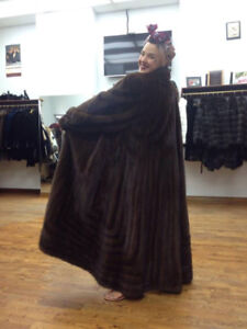 XL vintage brown mink full length coat