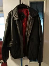 Man's Grey Leather Jacket
