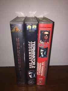 Terminator 1 and 2 VHS Video Tape Collection Bunbury Bunbury Area Preview
