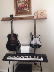 FG720S Acoustic, G7th Capo, Yamaha Piaggero NP-11 w/ Bench