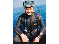 Wanted scuba diving gear adult men's xxxl wetsuit full 5mm or 7mm prefer semidry suit