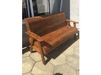 Garden chair and bench set