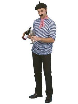 Erwachsene Französisch Kellner Zwiebel Verkäufer Barett Top Krawatte - Französisches Barett Kostüm