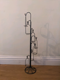 Tea light waterfall stand, metal