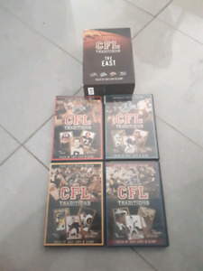 CFL  Canadian  football league  tradition the east dvd lot of 4