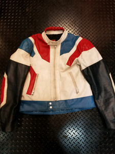 Vintage Old School Bristol Leather Motorcycle Jacket