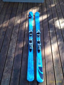 "Salomon ""Pocket Rocket"" Twin-Tipped Skis with Demo Bindings."