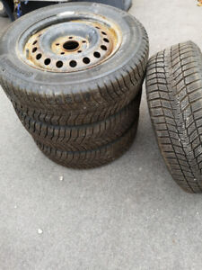 195/65R15 CONTI WINTER CONTACT on STEEL RIMS (Set of 4)