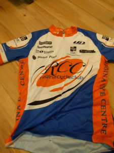 Two cycling jerseys, one SML one MED