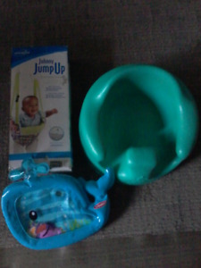 Bumbo chair soldJolly jumper $10.00  whale fill with water $3.00