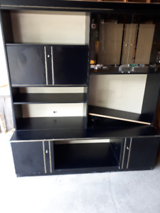 Black and gold  Wall Unit (2 pieces)