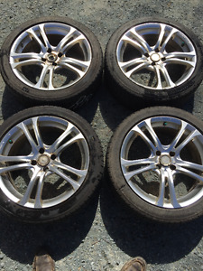 4x100mm 17inch rims with 215/45R17 tires