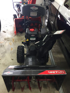 27 in. Dual-Stage Electric Start Gas Snowthrower - like new