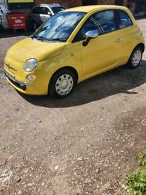 Fiat 500 09reg Sunshine Yellow Long Mot-Low Ins Group