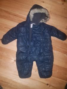 6 month one piece snowsuit