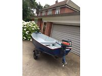 Aluminium dory / fishing boat / dingy