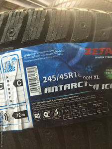 Four New 245 / 45 R18 Antarctica Xice Winter tires BRAND NEW