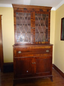 ANTIQUE SECRETARY/CABINET/BOOKCASE