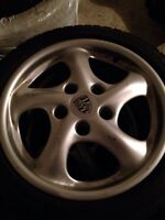 Porsche Wheels off 2003 Boxter, Rims with new winter tires