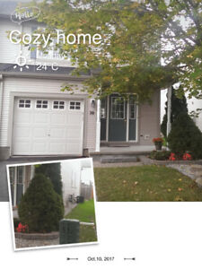 End unit 3 bedroom townhouse on a private street in StoneBridge