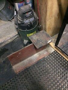 I beam made into anvil