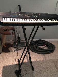 Vintage Roland E16 Synthesizer, Stand, Pedal, and Case