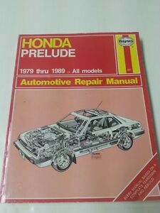 Honda Prelude Haynes Manual 1979-89