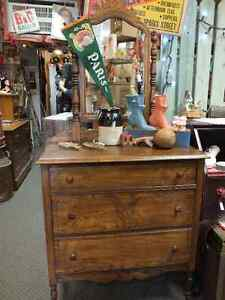 Hand Crafted Anique Dresser with Mirror Windsor Region Ontario image 1