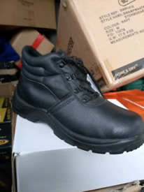 Work boots. Safety toe cap.