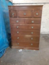 Antique furniture wardrobe drawers press