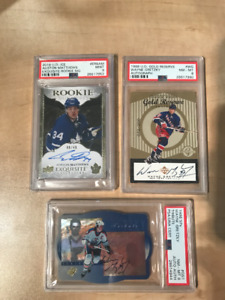 Autographed Auston Matthews and Wayne Gretzky Hockey Cards