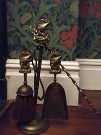 Brass Fireplace toolset