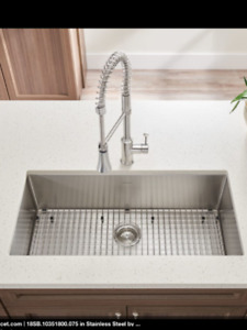 Square stainless steel Kitchen Sink - 18 gauge