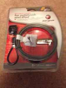 NEW! Targus security locks for a laptop & iPod/iPhones $5