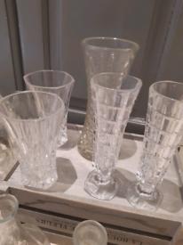 Job Lot Crystal Cut Vases (wedding)