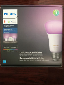 Philips HUE - white and color ambiance  - Bulb Starter Kit NEW