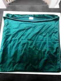 Laura Ashley x2 green velvety Cushion Covers 48x48cm