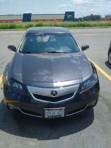 2012 Acura TL with Winter Tires and Rims