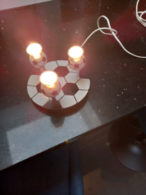 3 way football ceiling spotlight, GU10 bulb included
