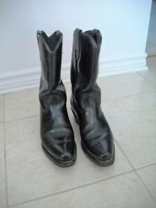 Leather Boots, black