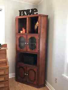 Antique Solid Wood Corner Cabinets London Ontario image 2