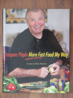 Recettes Jacques Pepin- More Fast Food My Way Recipe Book-PBS